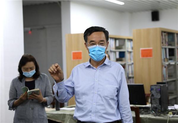 郑州市政协主席张延明一行莅临郑财院调研慰问